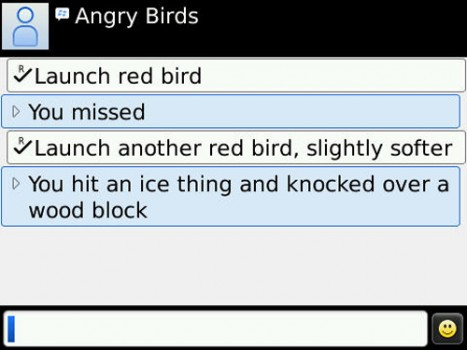 Angry Birds on BlackBerry